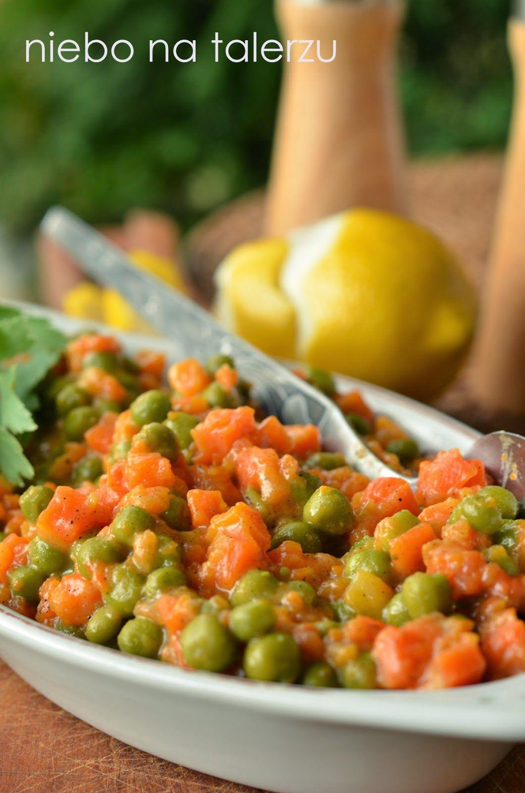 Niebo Na Talerzu Jak Zrobic Bardzo Dobra Marchewke Z Groszkiem Recipes Cooked Vegetables Vegetarian Recipes