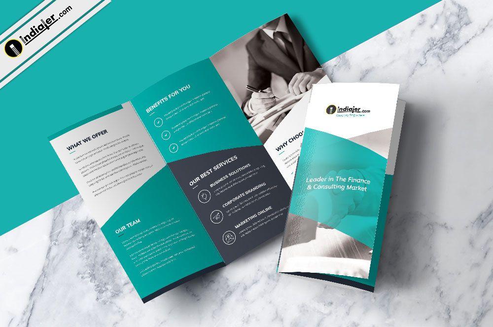 Professional Free Corporate Trifold Brochure Psd Brochure Design