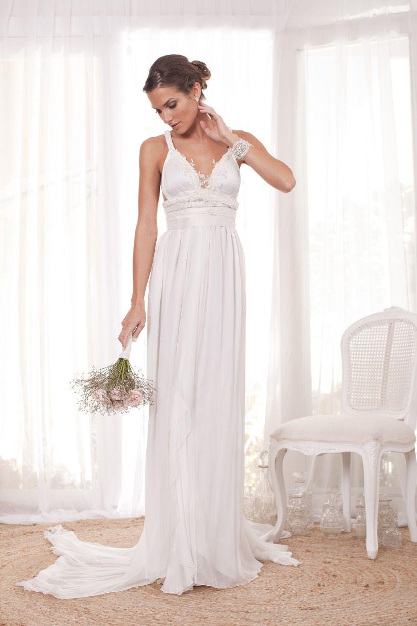 Where to find long sleeve wedding dresses  FALLING PETAL ORIGINAL DRESS  Anna Campbell  Wedding  Pinterest