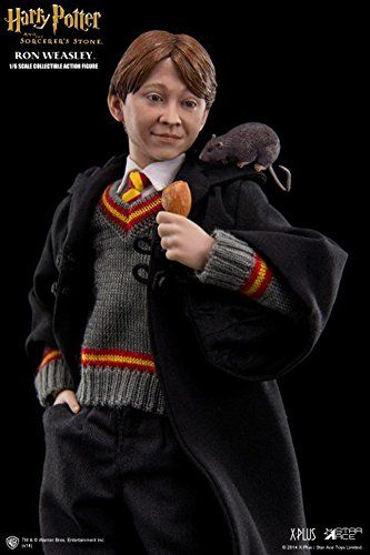 Amazon Com Harry Potter And The Sorcerer S Stone Ron Weasley 1 6 Scale Collectible Action Figure Toys Games Ron Weasley Harry Potter Dolls Harry Potter