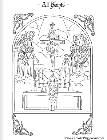 All Saints Coloring Page November 1st Catholic Coloring Saint Coloring All Saints Day