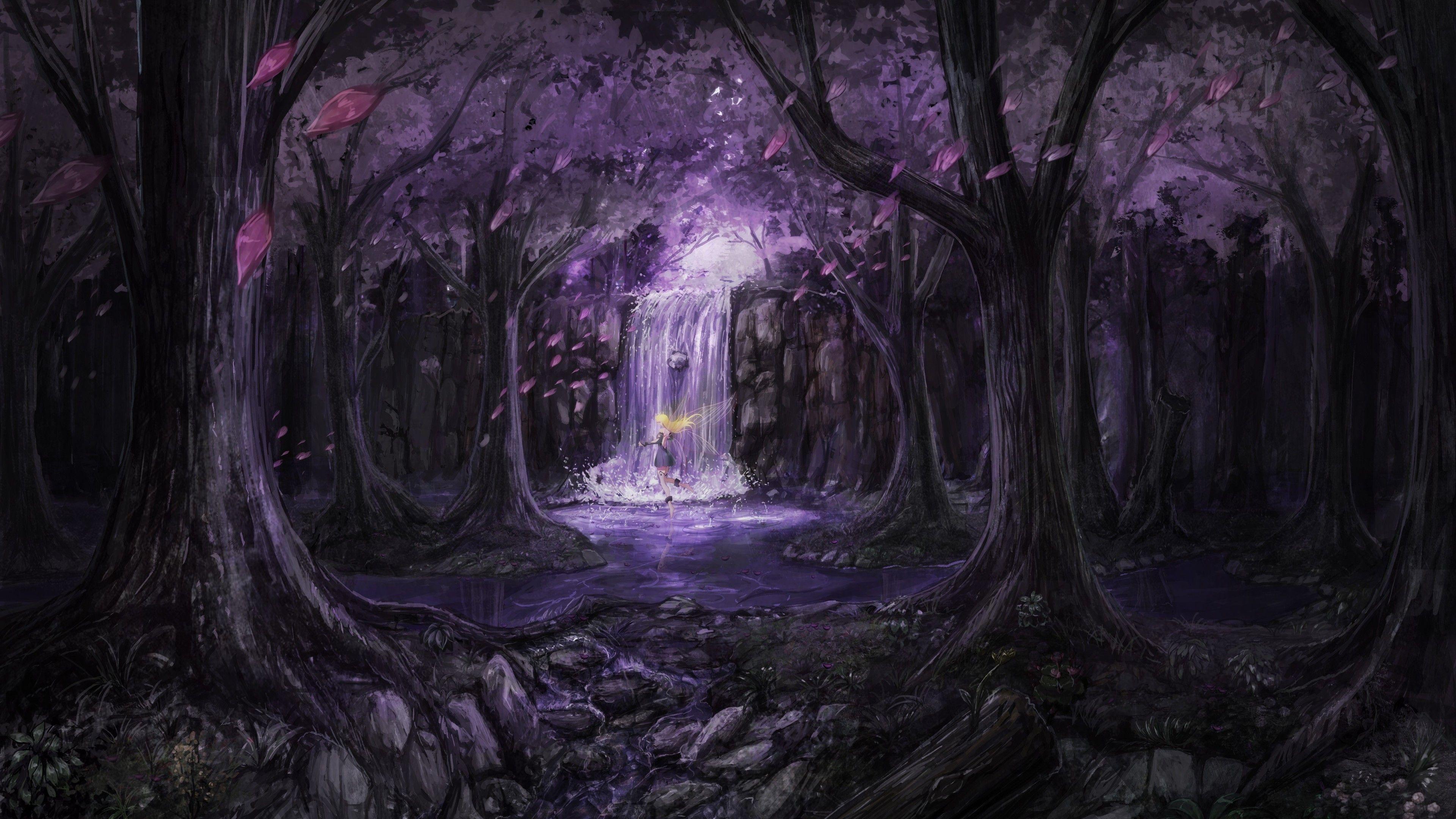 Anime Landscape Trees Dress Fairies 4k Hd Wallpapers Digital Art Wallpapers Artwork Wallpapers Artist Wa Fairy Wallpaper Landscape Wallpaper Anime Wallpaper