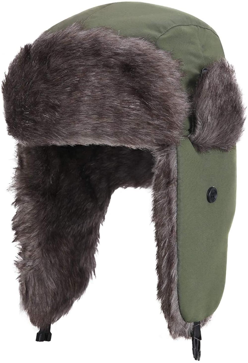 Amazonsmile Yesurprise Trapper Warm Russian Trooper Fur Earflap Winter Skiing Warm Hat Cap Women Men Unisex Windproof Army Trapper Hats Winter Hats Warm Hat