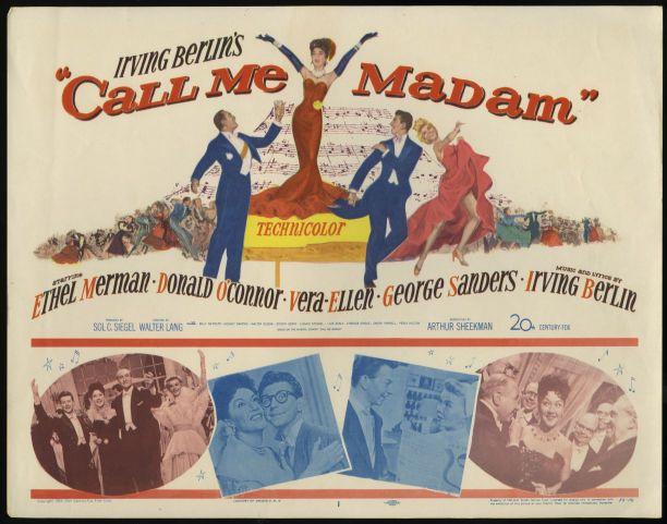 Call Me Madam (20th Century Fox, 1953)  Title Card
