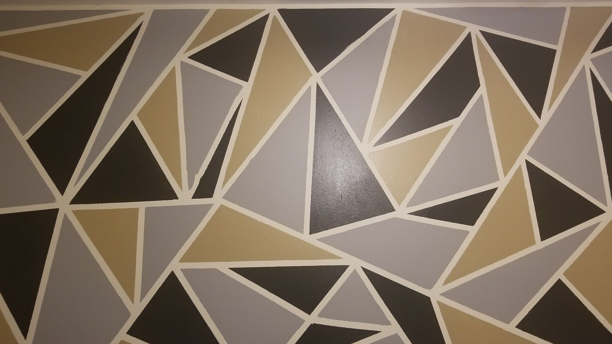 Diy Accent Wall Geometric Wall Geometric Wall Paint Diy Accent Wall
