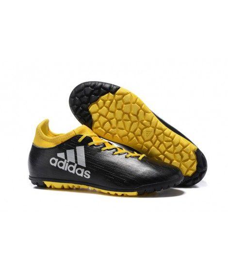 purchase cheap b6af1 51217 Adidas X 16.3 TF Suola Per Erba Sintetica Uomo Football Nero Giallo