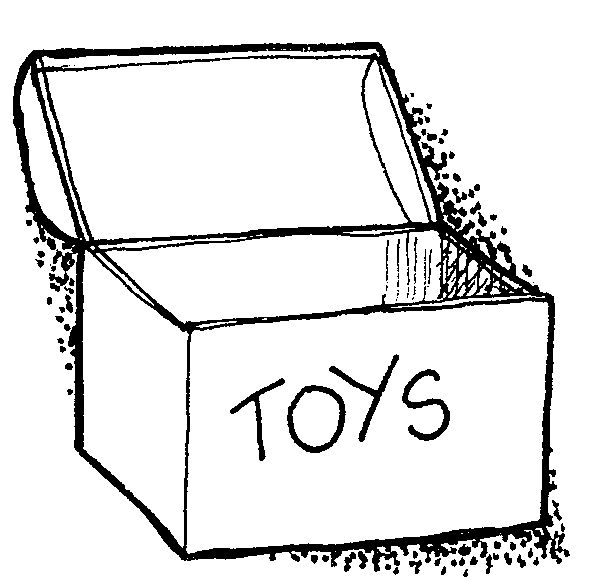 Toy Box Clip Art Black And White Toy Boxes