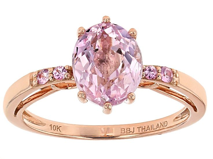 Pre Owned Pink Kunzite 10k Rose Gold Ring 1 96ctw In 2020 Gold Rings Jewelry Rose Gold Ring