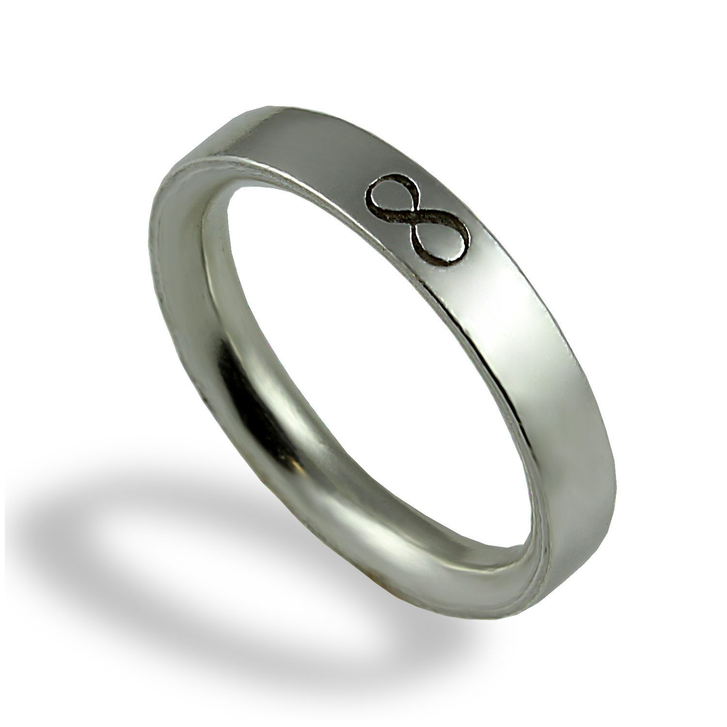 Infinity Wedding Band Unique Wedding Ring For Men White Gold For Him Commitment Ring Mens Wedding Rings Wedding Rings Unique Infinity Wedding Band