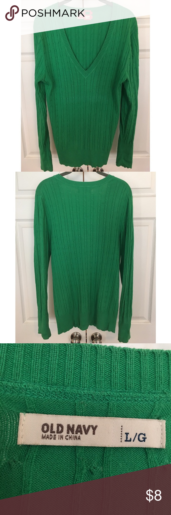 Green Cable Knit Sweater Large Old Navy Cable Knit Sweaters Navy