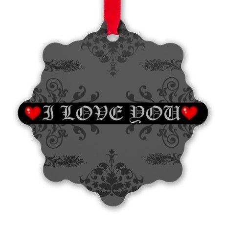 I Love You Snowflake Ornament