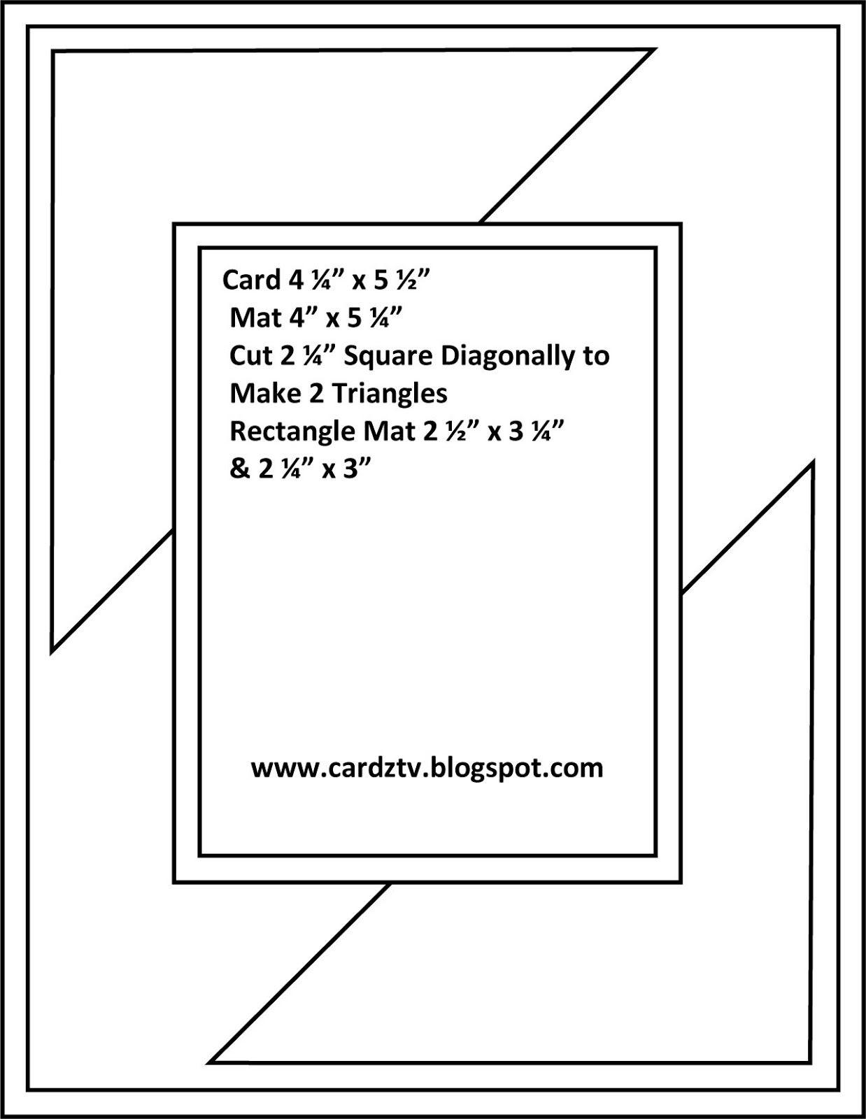 CARDZ TV: CARDZ TV CARD KIT & KABOODLE SKETCH ELEVEN | template ...
