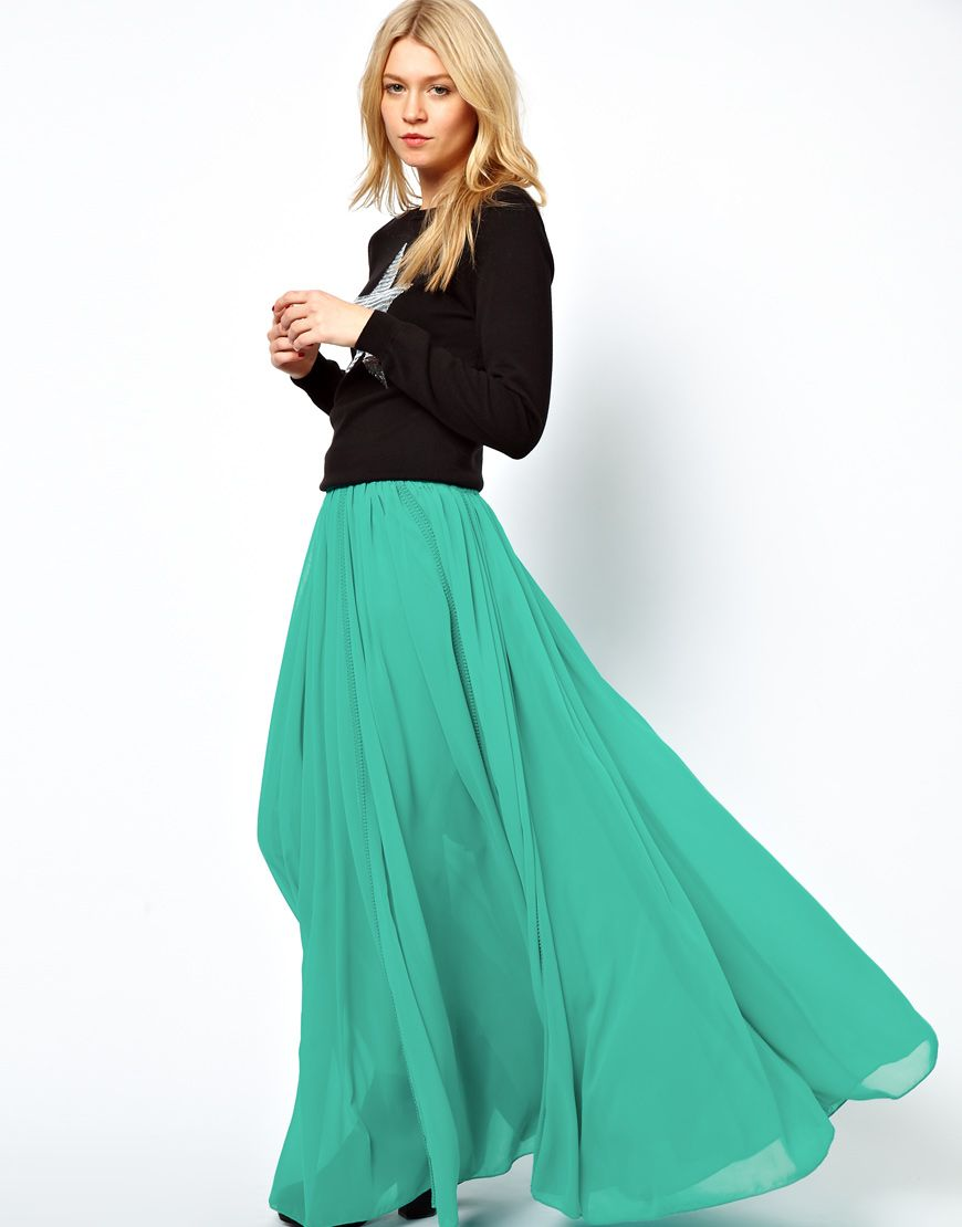 Asos maxi skirt with broderie inserts me likey fashion fashion