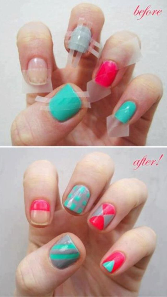 How to: Use tape on your nails to get some great manicure effects ...