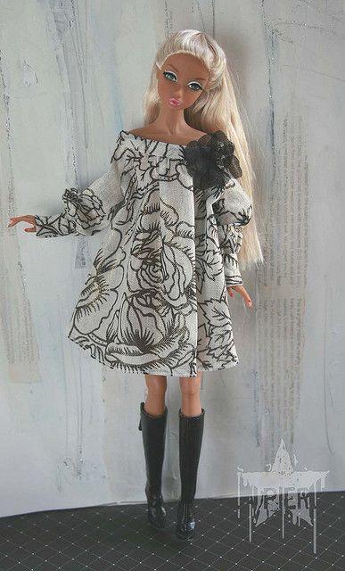 black roses for Silver | Barbie Kleid, Barbie und Puppen