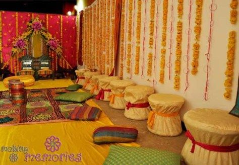 Mehndi Decoration Items : Mehndi function decoration ideas at home g events and