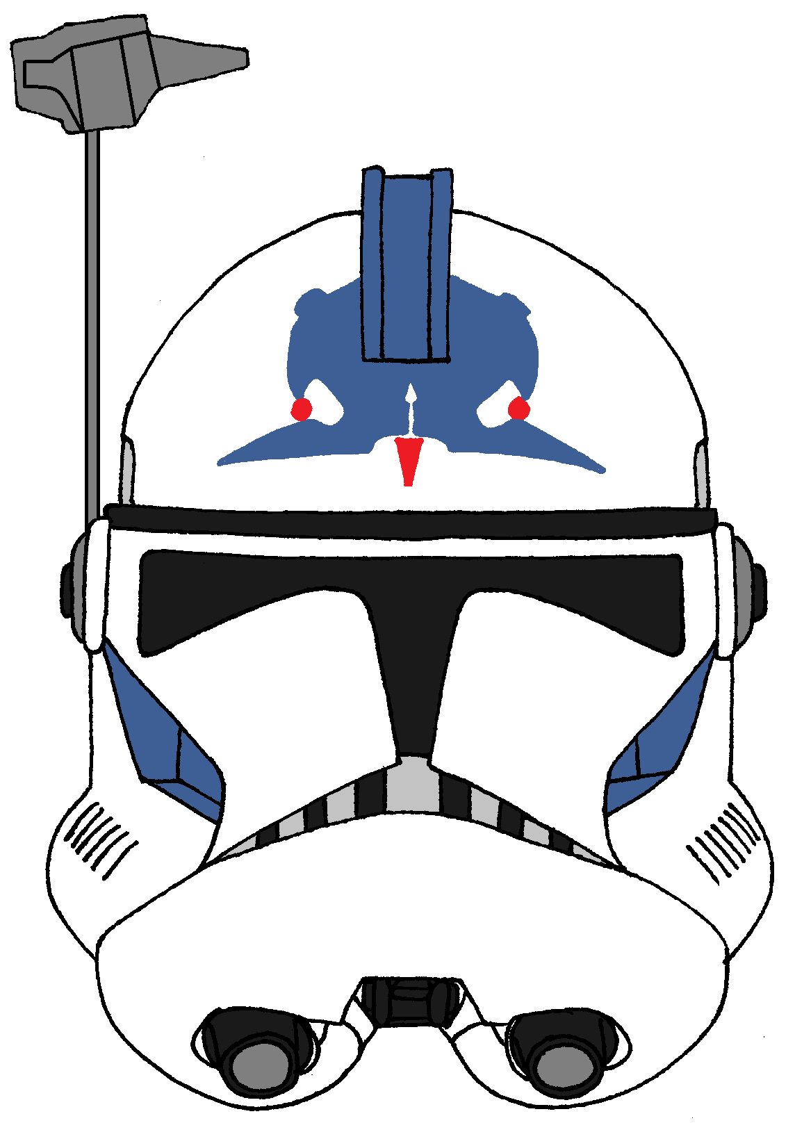 Arc Trooper Five S Helmet Star Wars Artwork Star Wars Art Star Wars Wallpaper