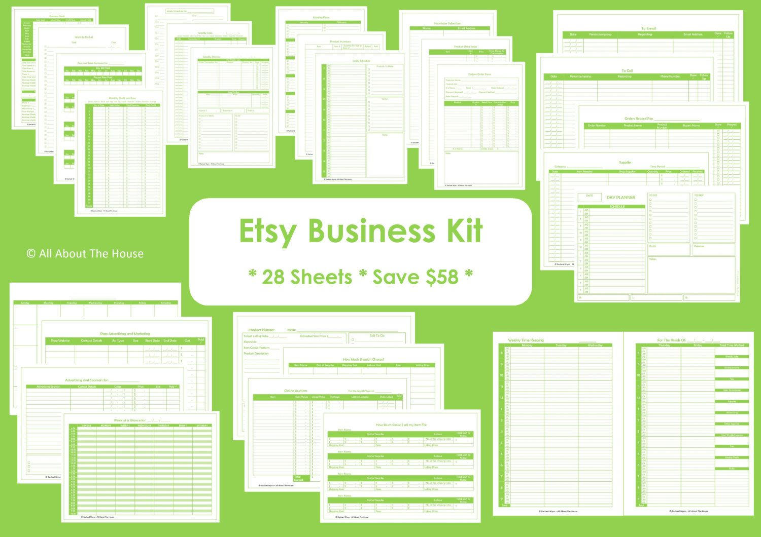 Etsy Business Planner Printables