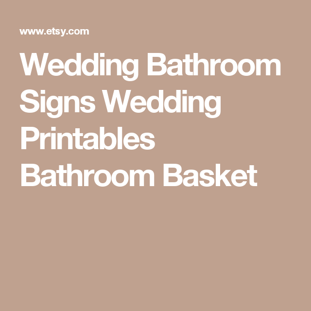 Wedding Bathroom Signs, Wedding Printables, Bathroom Basket Signs, Wedding  Bathroom, Reception Bathroom, Womens Bathroom Sign, PDF, WSET5