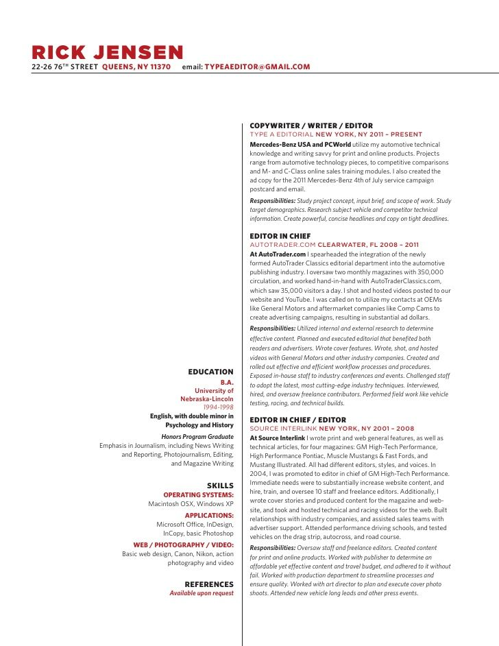 Superb Copywriting Resume   Google Search Pertaining To Copywriter Resume