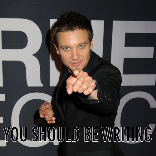 Jeremy Renner (Hawkeye) thinks you should be writing, too.