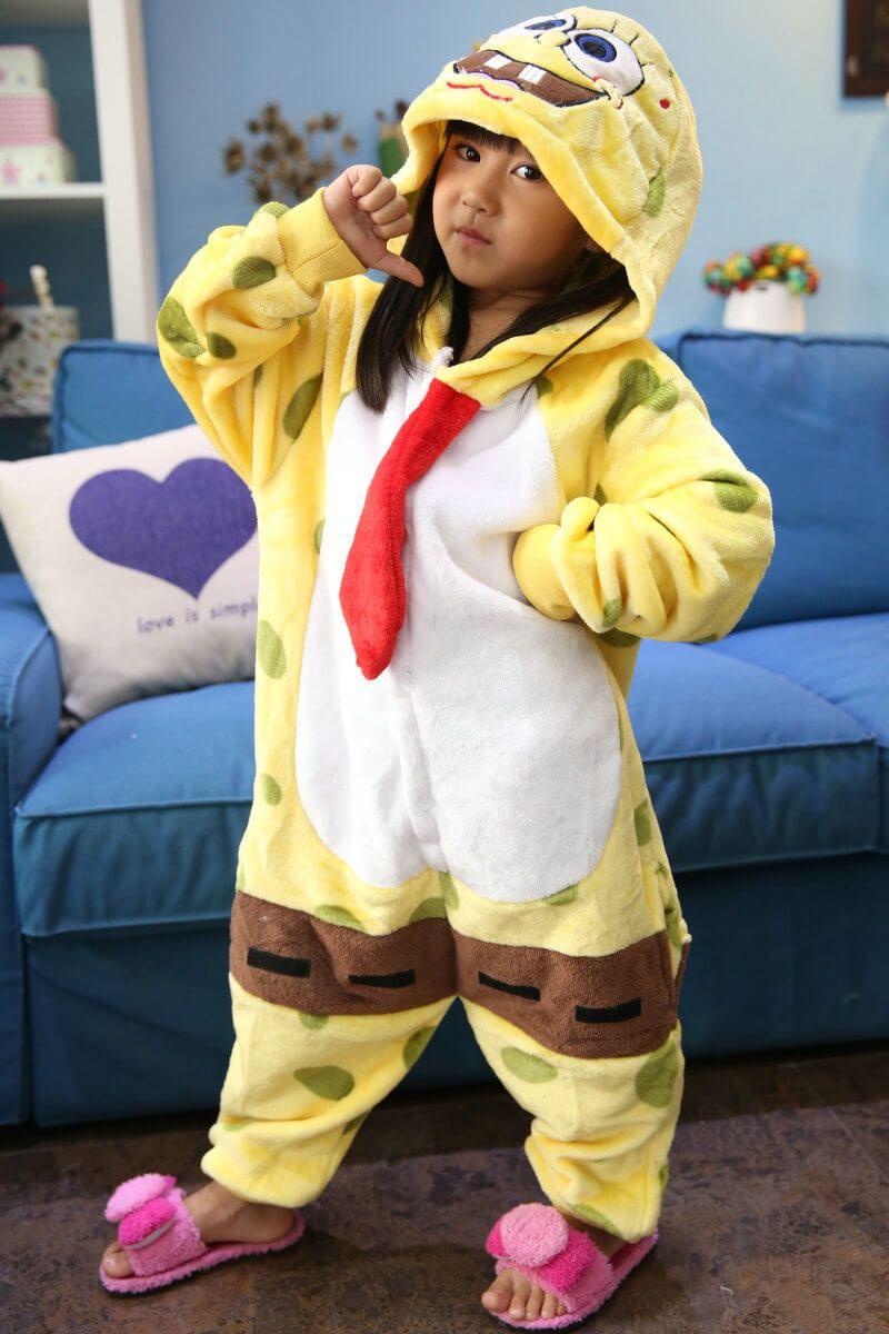 9f8d88ce2a23 PajamasBuy - Kids SpongeBob SquarePants Kigurumi Onesies Pajama Costume