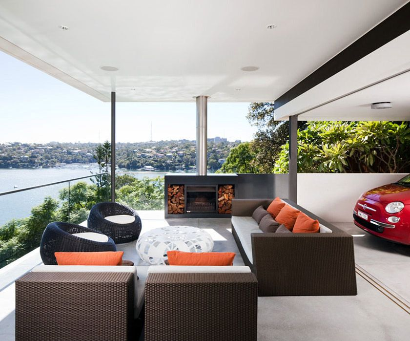 Outdoor Firep, River View, River House in Sydney, Australia ...