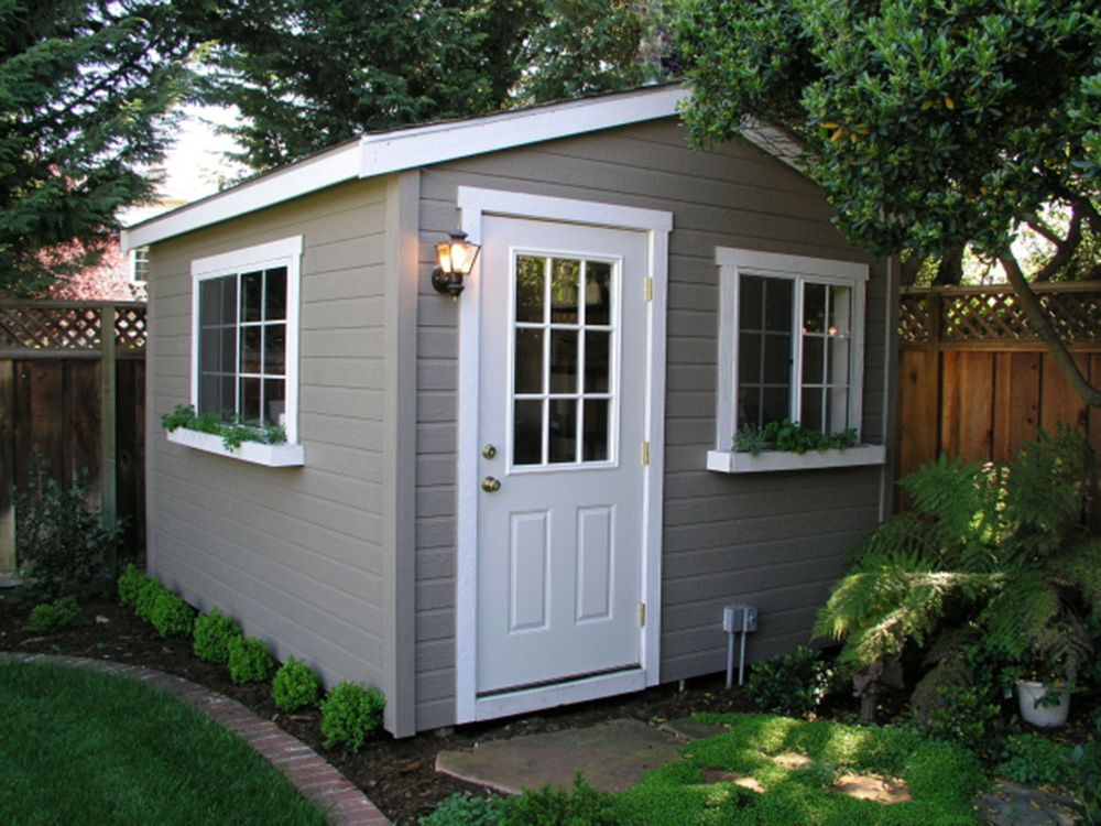 The shed shop studio model ideal for backyard home for Outside office shed