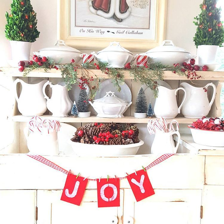 The dry sink ready for christmas.#christmasdecorating #drysink #farmhousestyle