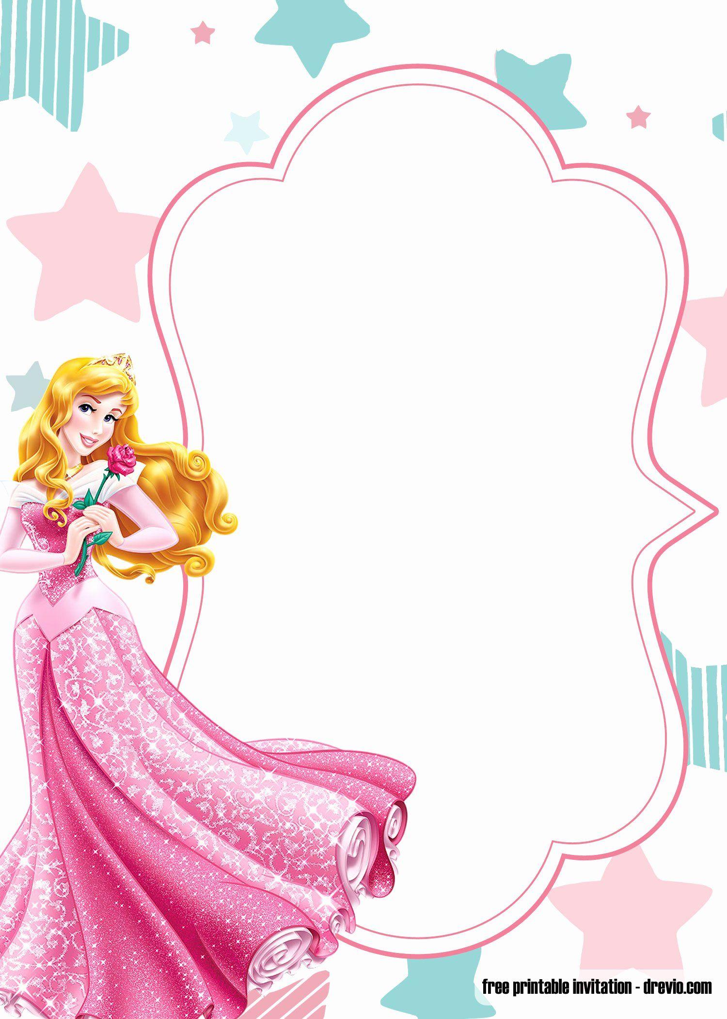 Disney Princess Invitation Template Fresh Free Printable Princess Birthday Invit Disney Princess Invitations Princess Birthday Invitations Princess Invitations