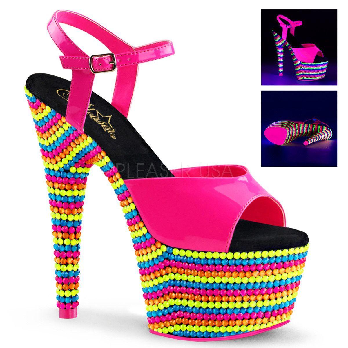 Pleaser Adore 709RBS Ankle Strap Sandal (Women's) 9qhpeDx