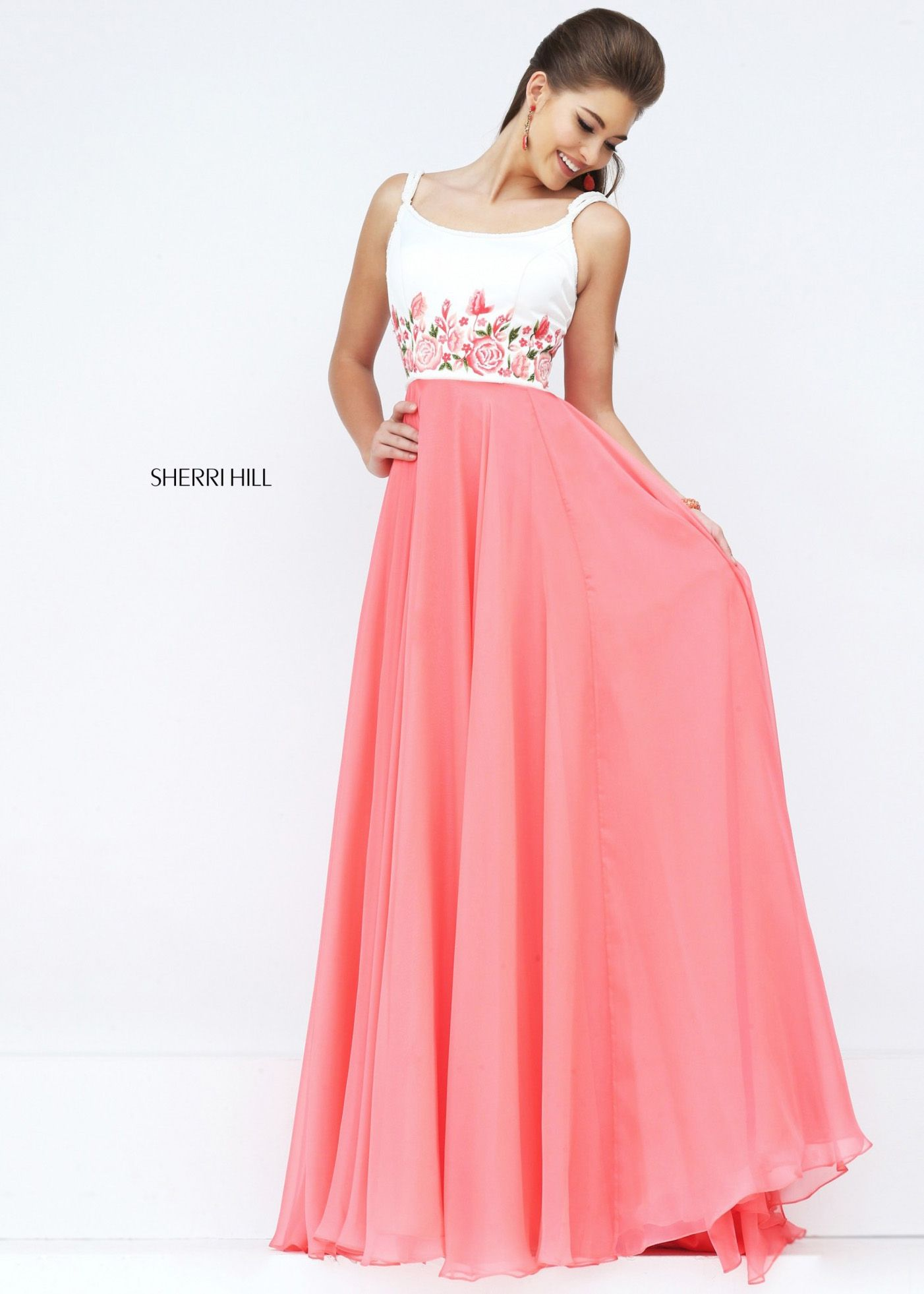 2016 Sherri Hill 50410 Beaded Scoop Back Evening Gown