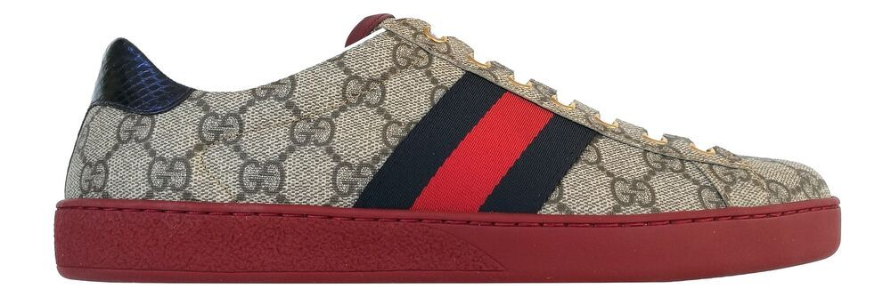 d74fd34775e eBay  Sponsored GUCCI shoes Ace low sneaker in GG Supreme fabric 429445  K2LH0 9767