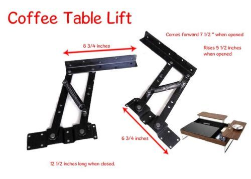 Details about lift top coffee table mechanism diy hardware for Lift top coffee table hinges