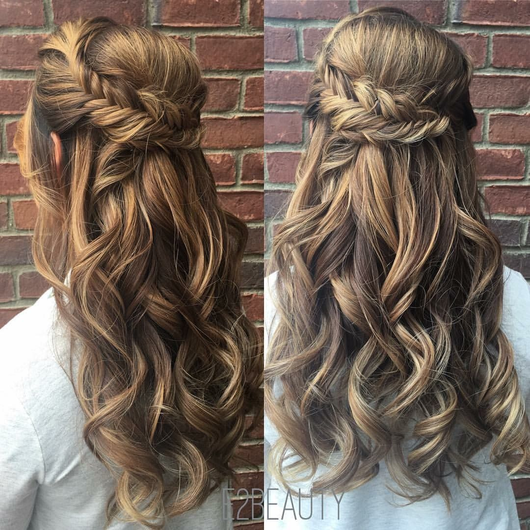 fishtail braid updo wedding