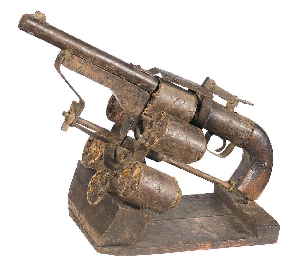 Необычный крепостной 24-зарядный револьвер : История оружия