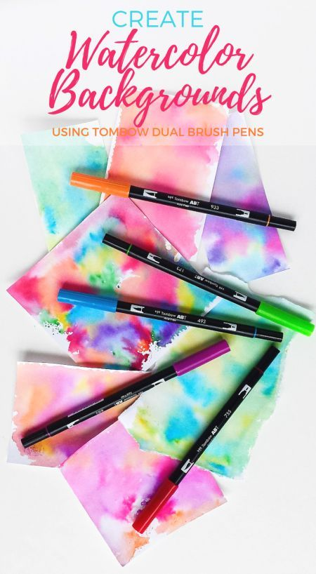 Tombow Abt Water Based Dual Brush Pen Set 10 Colors Watercolor