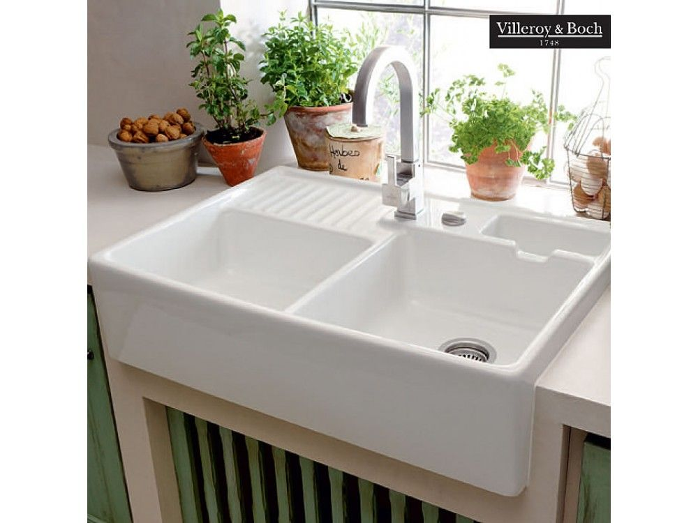 White Ceramic Double Bowl Kitchen Sink: Villeroy And Boch Kitchen Sinks Canada