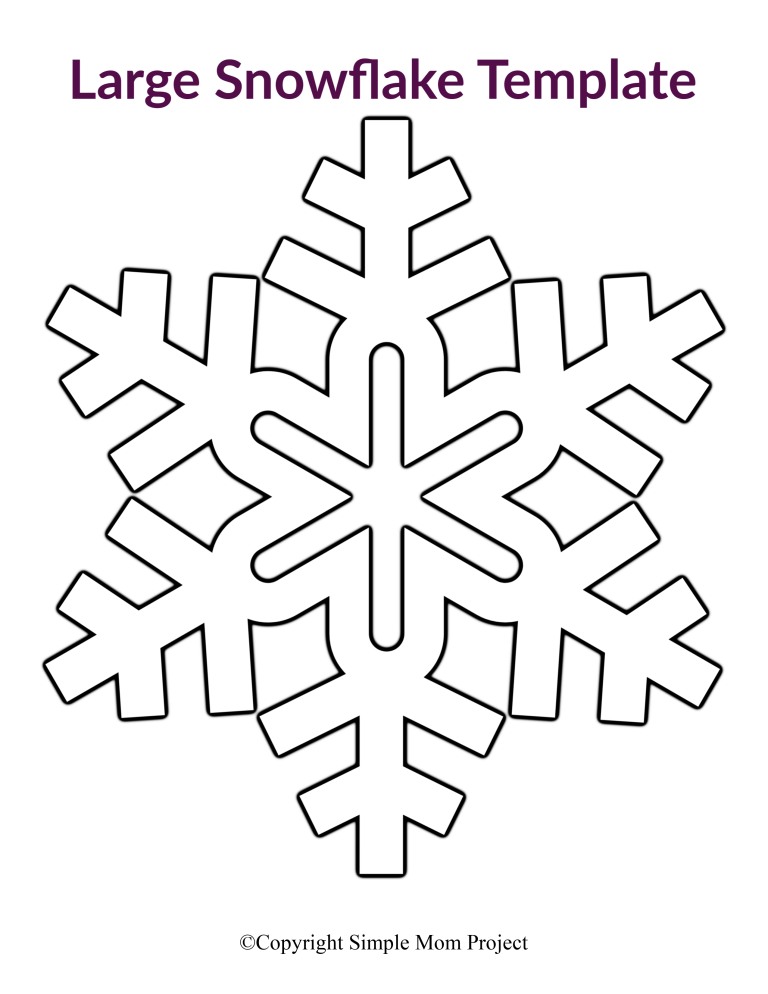 8 Free Printable Large Snowflake Templates   Snowflake ...