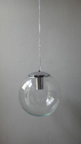 Colgante Globo De Vidrio Diam 25 Apto Lampara Bajo Consumo Lamparas Colgantes Lamparas De Cristal Vidrio Transparente