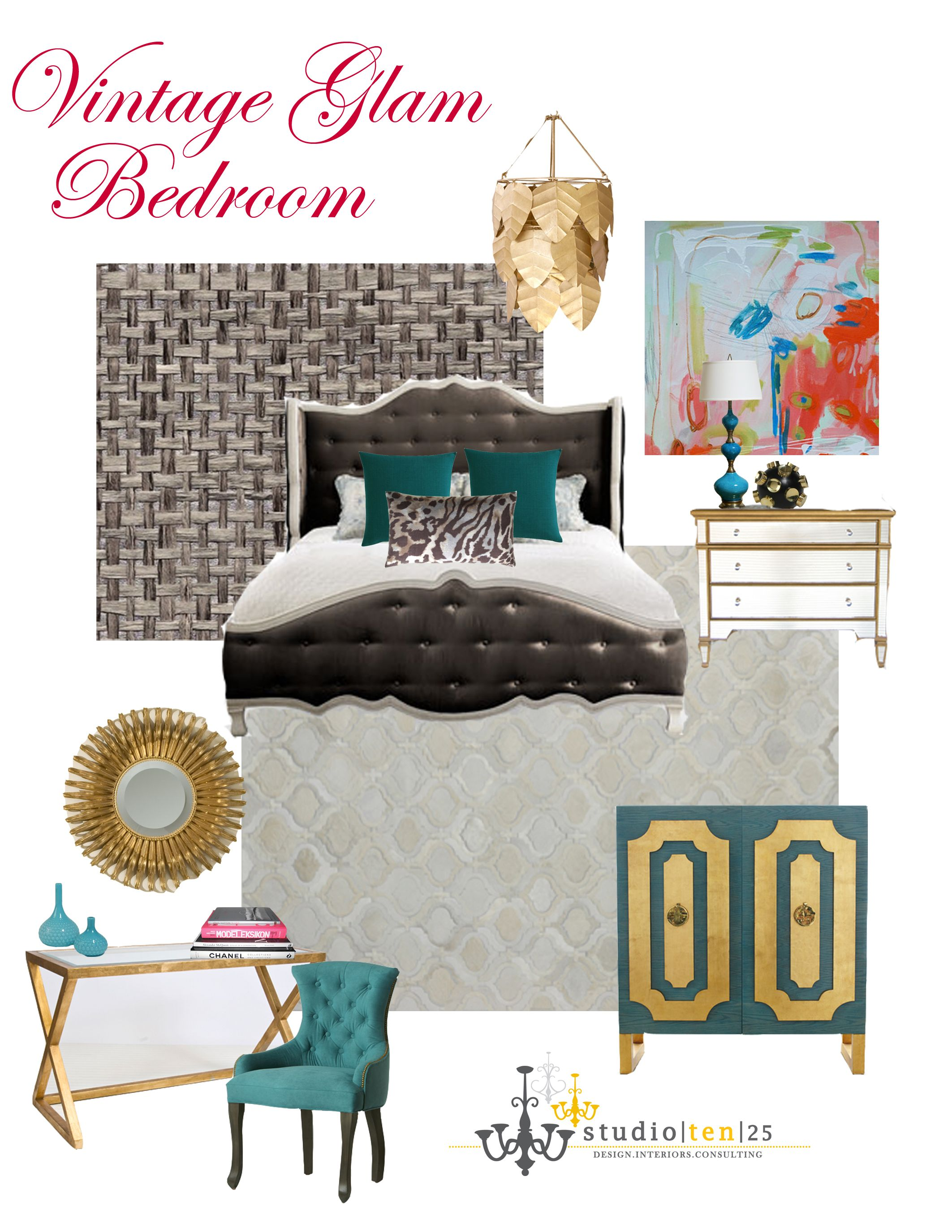 vintage glam bedroom #studioten25 | apartment therapy | pinterest