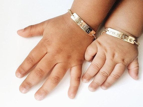 Personalized Baby Bracelet Gold