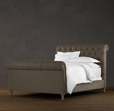 chesterfield king size bed in vintage velvet charcoal home is rh pinterest com