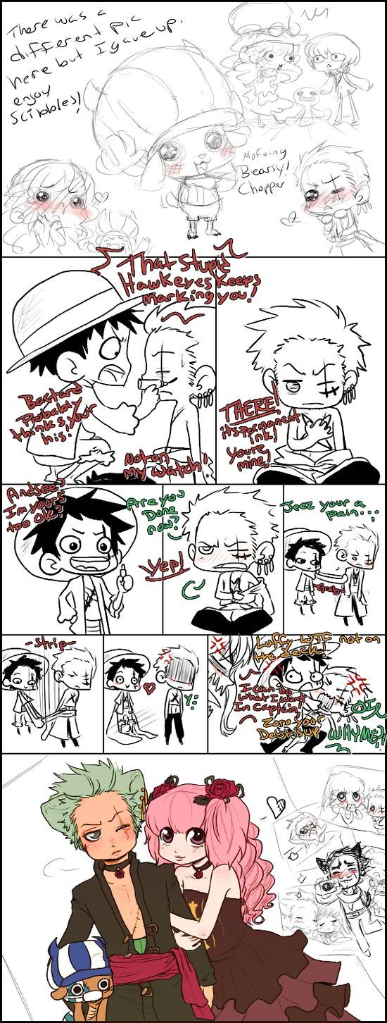 OP Zoro and Perona and such by Nire-chan