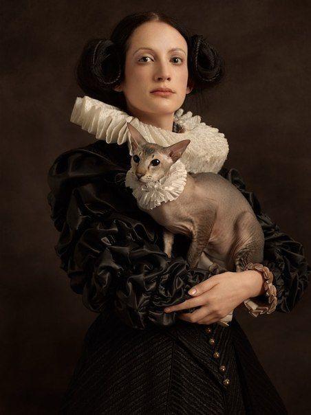 Портреты в духе фламандской живописи  Фотограф Sacha Goldberger