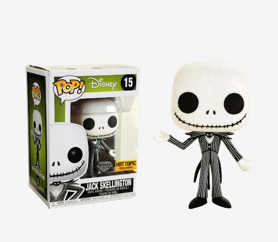 Funko Pop #447 Jack Skellington Sugar Skull Nightmare Xmas Disney Hot Topic NBC