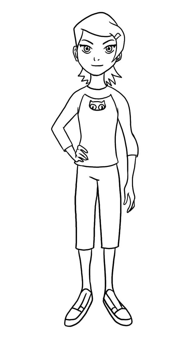 Gwen Tennyson Coloring Page Coloring Pages Color Coloring Pages For Kids