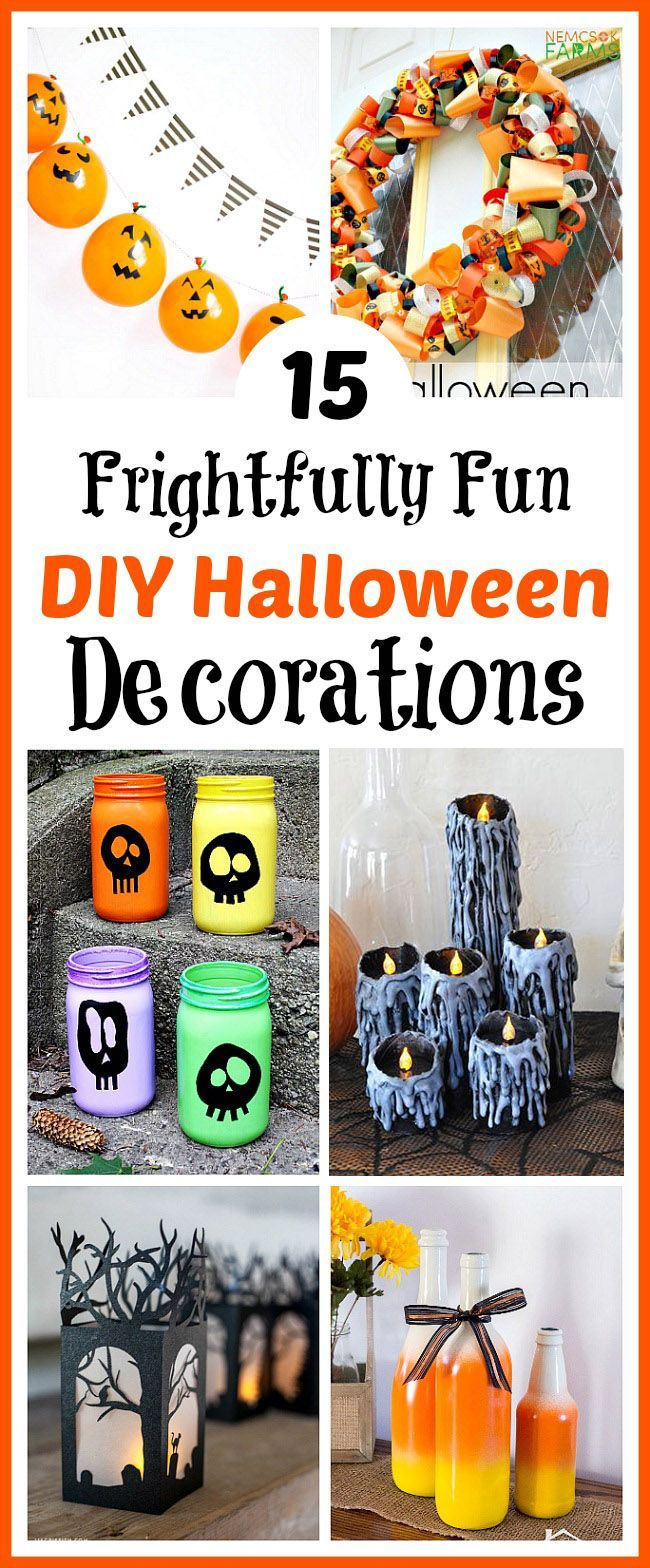 15 Frightfully Fun DIY Halloween Decorations Pinterest Halloween - Homemade Halloween Decorations Pinterest