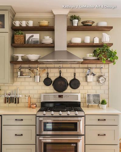 Floating Shelves Around Hood Vent Kitchen Remodel Small Kitchen Design Rustic Farmhouse Kitchen