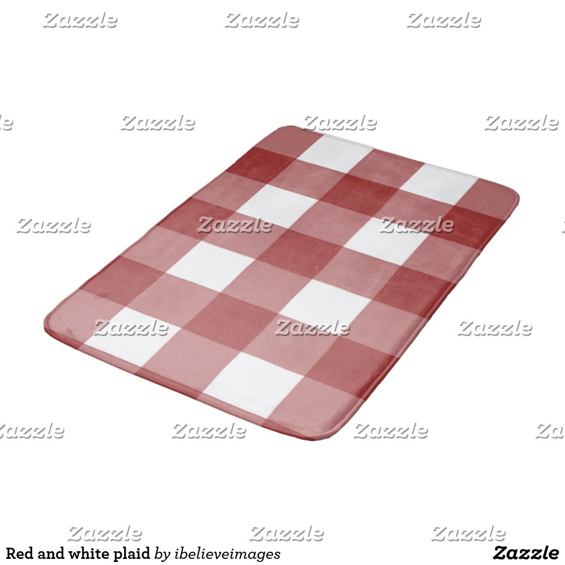 Red And White Plaid Bath Mat Zazzle Com Red White White
